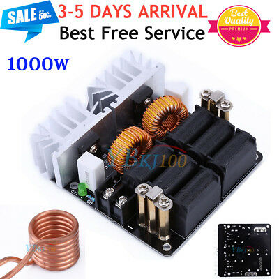 Pro 5V-12V Low Voltage ZVS Induction Heating Power Supply Module +Heater Coil NK