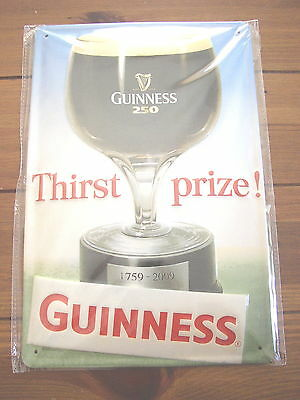 Guinness Thirst Prize embossed metal Pub Sign, Genuine Licensed Product