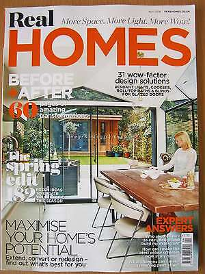 Real Homes April 2016 60 pages of Transformations Spring Ideas Design Solutions