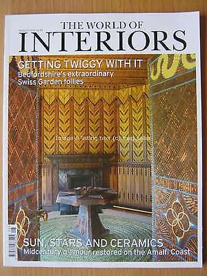The World of Interiors August 2016 Bedfordshire Swiss Garden Amalfi Coast