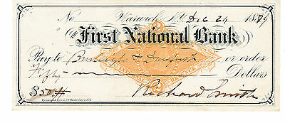 The First National Bank, Warwick, New York  1879   With Revenue