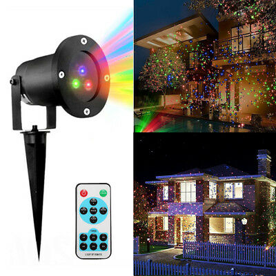 Outdoor RGB Dynamic LED Laser Stage Star Light Garden Party Xmas Halloween Lamp