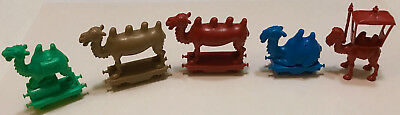 R&l Cereal Toy ~ Crazy Camel Train 1969 ~ 5 Camels ~ No Wheels, Aussie Kelloggs