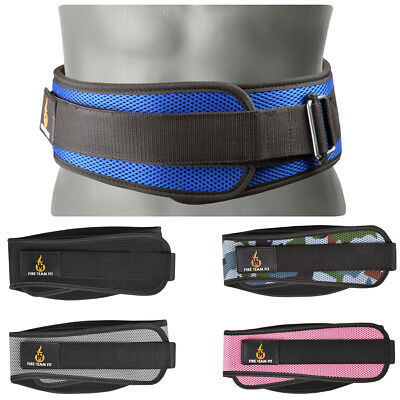 "Fire Team Fit 6"" Lightweight Contoured Olympic Weight Lifting Belt"