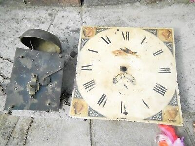 Grandfather Clock Movement Chain Driven - For Restoration