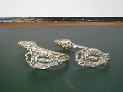 2 FRENCH ANTIQUE metal CURTAIN TIE BACKS HOOKS LOUIS XVI