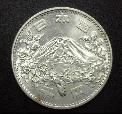 Japan 1964 Silver 100 Yen -Olympics- Y#80  Exceptional Uncirculated