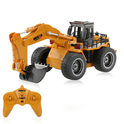 Die Cast RC Excavator Digger 1:18 2.4GHz 6 Channel Remote Control Truck Toy