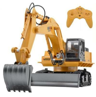 Die Cast RC Excavator 1:16 2.4GHz 11 Channel Remote Control Digger Truck Toy