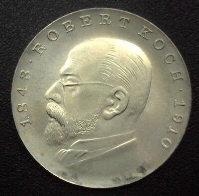 East Germany 1968 5 Mark -Robert Koch- Km#19.1  Exceptional Uncirculated