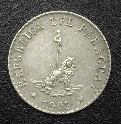 Paraguay 1903 5 Centavos Km#6  Nearly Uncirculated