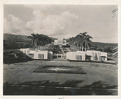 1940s Mormon Temple at Laie, Hawaii 8x10 Photo