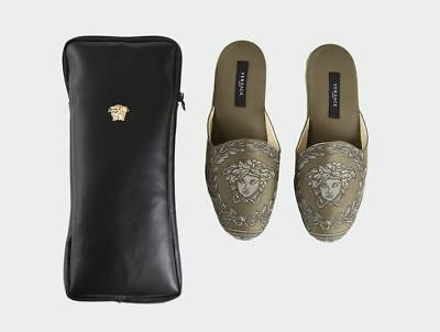 Versace Baroque Medusa Slippers 1 Pair with Case - Size 35 - Verde