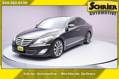 2013 Hyundai Genesis 5.0 R-Spec Sedan 4-Door 13 Hyundai Genesis Black RWD HID Headlights Lexicon Audio Heated Leather