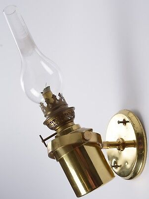 Gaudard Brass French Made Gimballed Oil Lamp