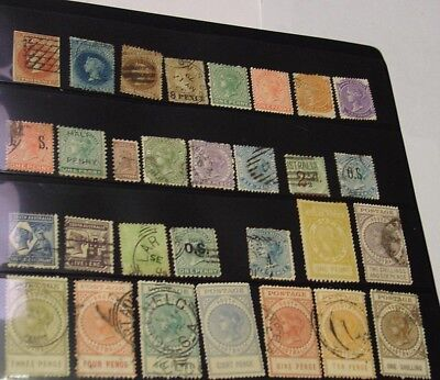 South Australia collection of 30 mostly different stamps, circa 1860s-1920s.