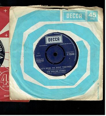 Rolling Stones Let's Spend The Night Together/ruby Tuesday 45 Decca 1967