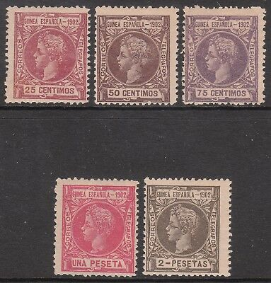 Spanish Guinea 1902 #3 #4 #5 #6 #7 Mint Stamps