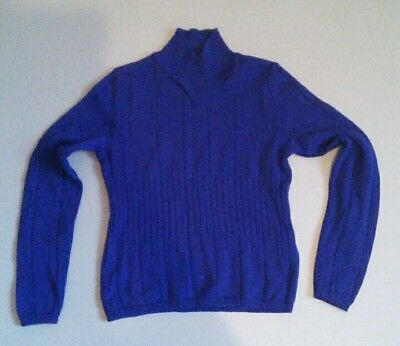 Vintage State Of Claude Montana Blue Fitted Wool Jumper Rare!!!