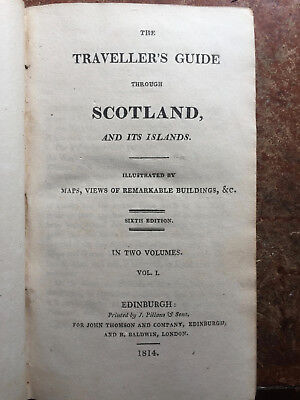 1814 - The Traveller's Guide Through Scotland - 2 Vols in 1 - Plates, Maps