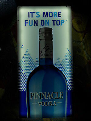 Pinnacle Vodka It's More Fun on Top Lighted Sign NEW in Box