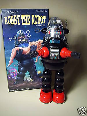 "GSR  ""ROBBY THE ROBOT""  von OSAKA TT  JAPAN, 26cm, BLACK NEU/NEW/NEUF in NEW BOX"