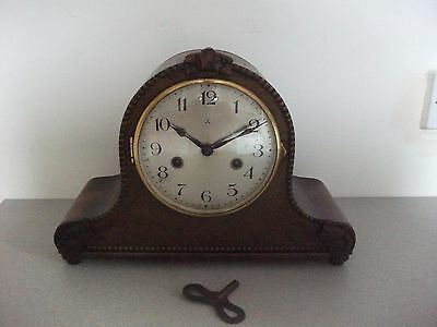 Vintage H.A.C. Mantel Clock with Key - Made in Germany
