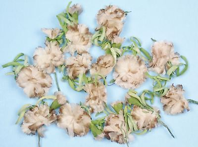 Lot of VINTAGE MILLINERY FLOWERS Taupe For Hats or Crafts