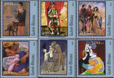 Topical Stamps Guinea-bissau 1618-1623 Postfrisch 2001 Gemälde Stamps