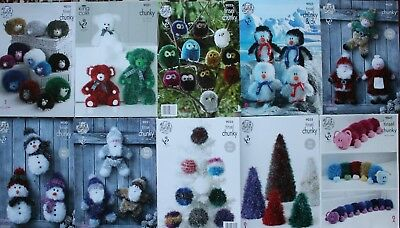 King Cole Tinsel Toy Patterns List 1 - Pattern Nos 9015 - 9041 Christmas