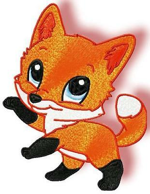 Cute Baby Fox 10 Machine Embroidery Designs Cd 4 Sizes Included