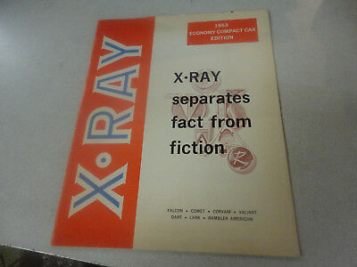 Rare 1963 X-RAY  Seperates Fact From Fiction Economy Compact Car Edition