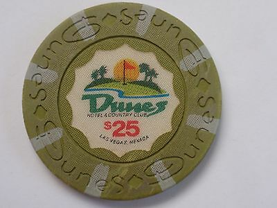 $25 Chip LAS VEGAS Casino - DUNES - 16th Issue / Golf  Course (Open 1955-1993)