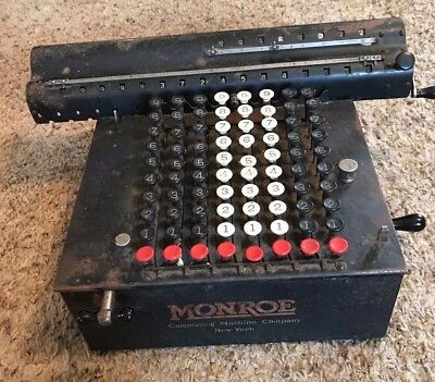 Rare  June 16, 1908 Vintage Monroe All-Metal Calculator Adding Machine