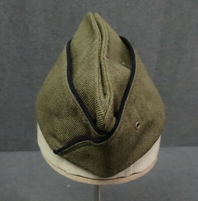 Original Pre WWII Black Piped Chaplain Overseas Hat