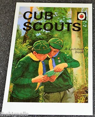 Ladybird Book Cover Postcard CUB SCOUTS new