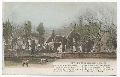 POSTCARDS-SCOTLAND-ANWORTH-PTD. The Ruins of Rutherford Church.