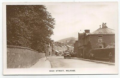 POSTCARDS-SCOTLAND-MELROSE-RP. The High Street.