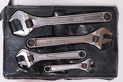 SNAP ON 4 pc Adjustable Wrench Set AD704B