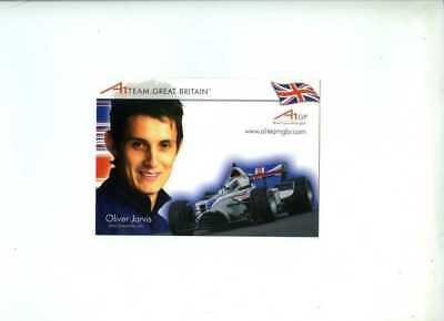 Oliver Jarvis A1 Grand Prix Great Britain 2006 Official Team Issued Card