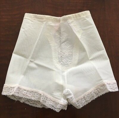 NOS Vintage Sears High Waist Panty Girdle Lace Gusset Size L 29-30  Panties