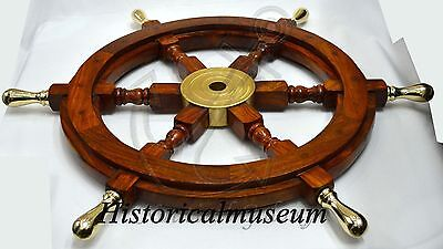 "Vintage Ship Wheel 24"" Dia Replica Boat HM627 Steering Wheel Pirate Ship Wheel"