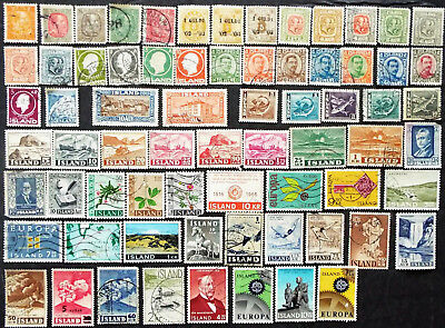 Older Stamp Collection From Iceland
