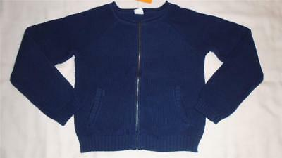 NEW Girls Size 10-12 Gymboree Sweater Navy Cardigan Zip Front 2017 Line NWT