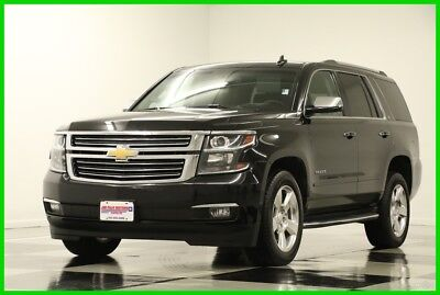 2016 Chevrolet Tahoe 4X4 LTZ Sunroof GPS DVD Leather Black 4WD Used Heated Cooled Seats Player Captains Seats 7 Passenger Camera 2017 17 16