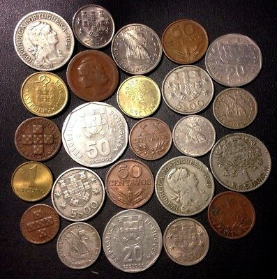 Old Portugal Coin Lot - 1924-PREEURO - 24 Great Coins - Lot #920