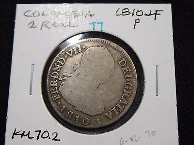 INV #T7 Colombia 1810-JF P 2 Reales