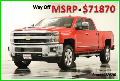 2018 Chevrolet Silverado 2500 HD MSRP$71870 4X4 LTZ DVD Sunroof Diesel Crew New 2500HD Duramax GPS Navigation Heated Cooled Leather 4WD Cab Red 17 2017 18