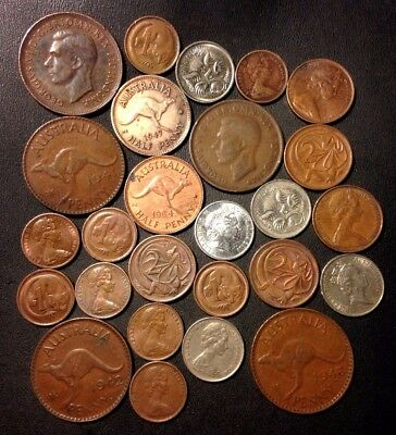 Old Australia Coin Lot - 1939-PRESENT - 26 Great Coins - Lot #920