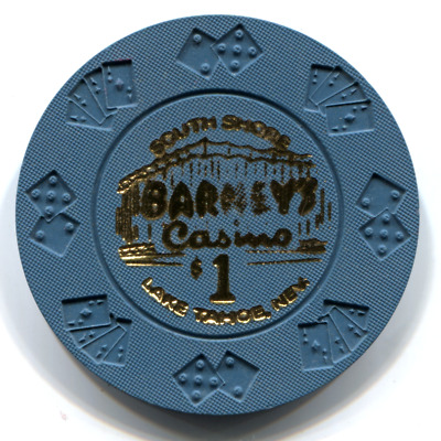 $1 Barney's Lake Tahoe Casino Chip